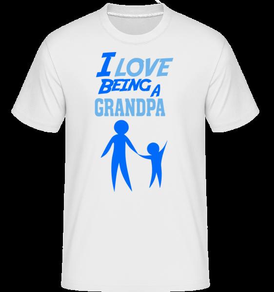 I Love To Be A Grandpa -  Shirtinator Men's T-Shirt - White - Vorn