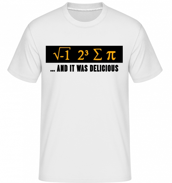 Delicious Mathematics -  Shirtinator Men's T-Shirt - White - Vorn
