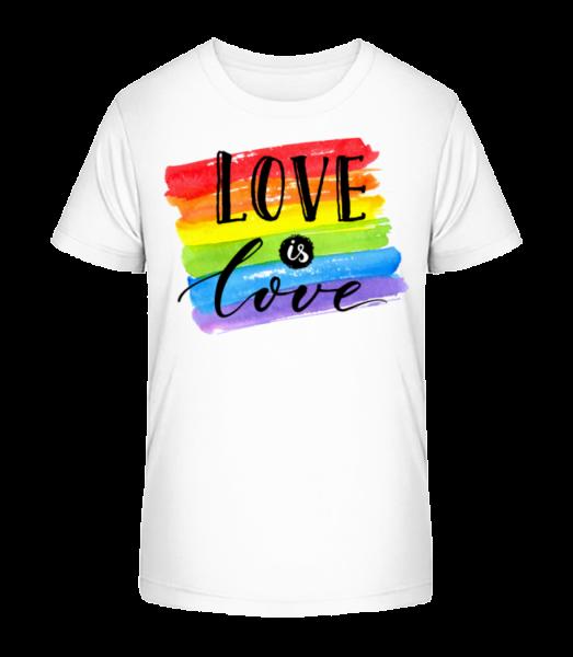 Love Is Love - Kid's Premium Bio T-Shirt - White - Vorn