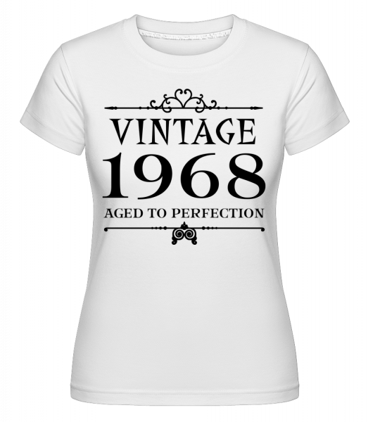 Vintage 1968 Perfection -  Shirtinator Women's T-Shirt - White - Vorn