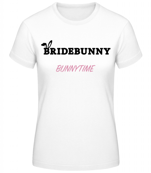 Bridebunny Bunnytime - Women's Basic T-Shirt - White - Vorn