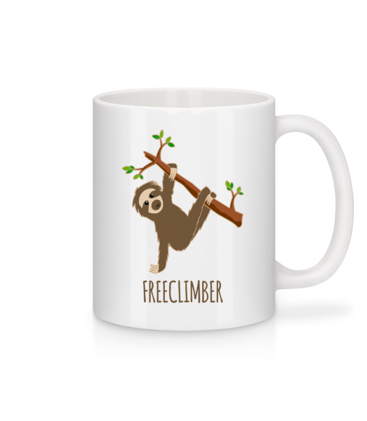 Freeclimber Sloth - Mug - White - Vorn