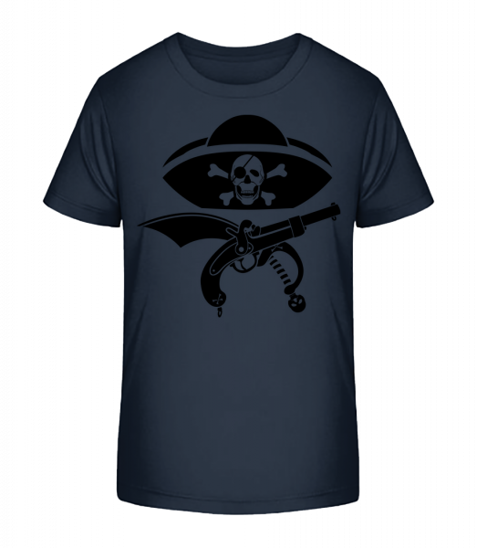 Pirate Symbol Black - Kid's Premium Bio T-Shirt - Navy - Vorn