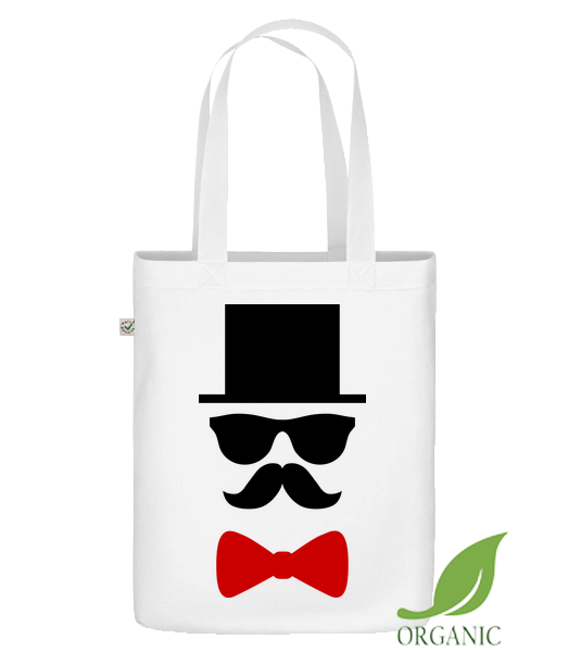 "Groom - Organic ""Earth Positive"" tote bag - White - Vorn"
