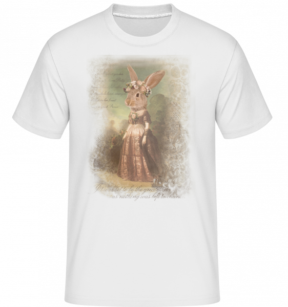 Painting Bunny -  Shirtinator Men's T-Shirt - White - Vorn