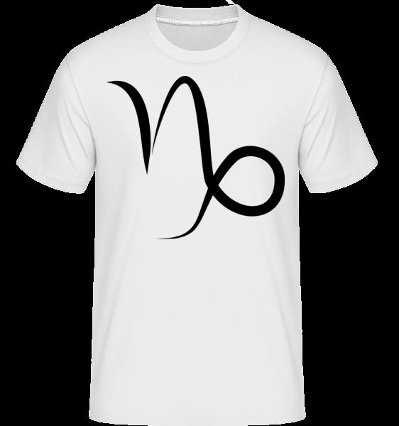 Capricorn Sign -  Shirtinator Men's T-Shirt - White - Vorn