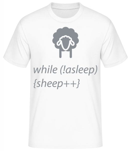 While Not Asleep - Men's Basic T-Shirt - White - Vorn