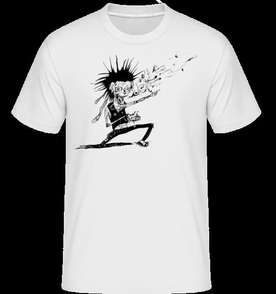 Zombie Musician -  Shirtinator Men's T-Shirt - White - Vorn