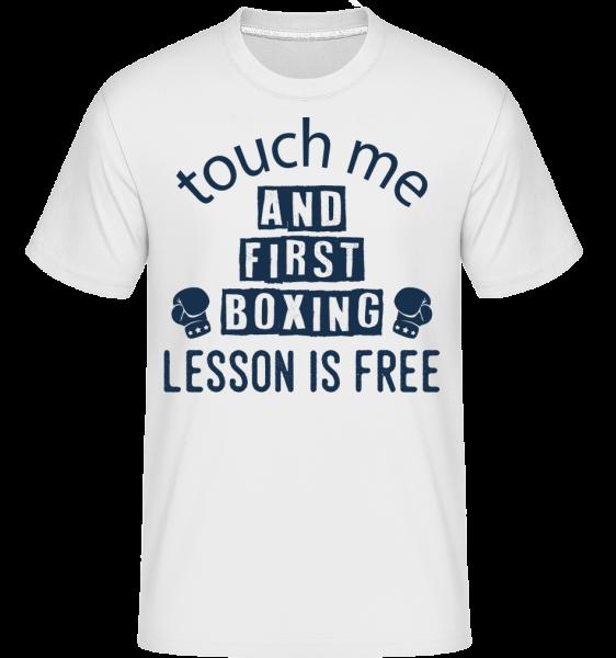 Free Boxing Lessons -  Shirtinator Men's T-Shirt - White - Vorn