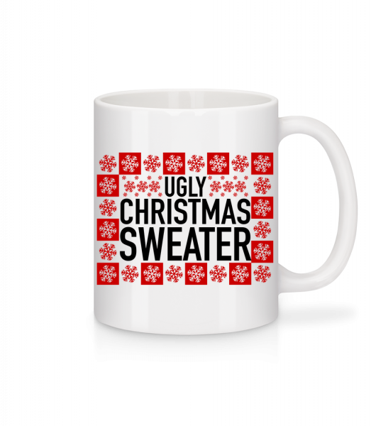 Ugly Christmas Sweater - Mug - White - Vorn
