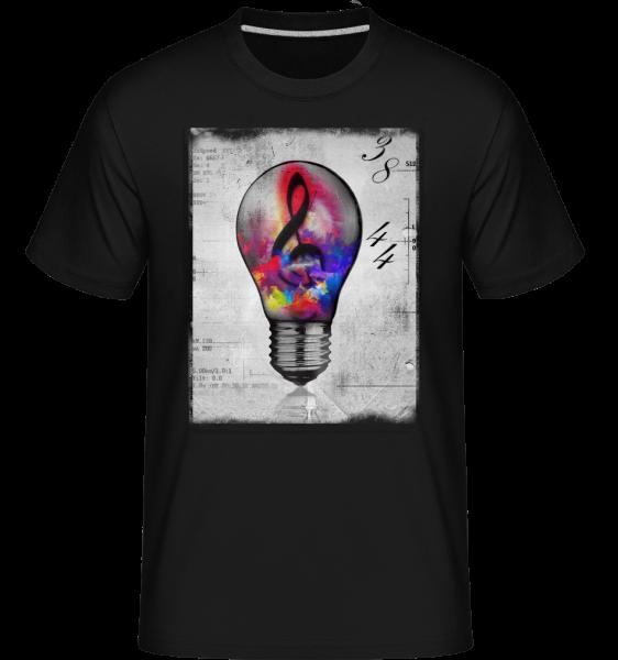 Colourful Lightbumb -  Shirtinator Men's T-Shirt - Black - Vorn
