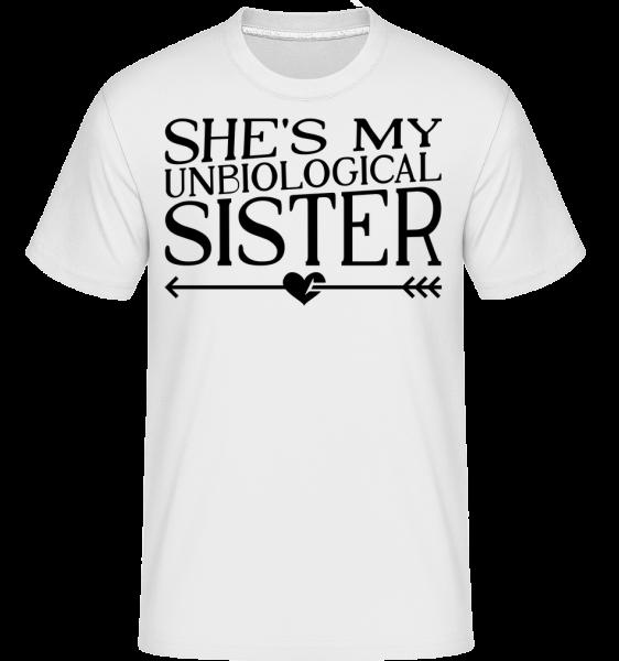 Unbiological Sister - Shirtinator Men's T-Shirt - White - Vorn