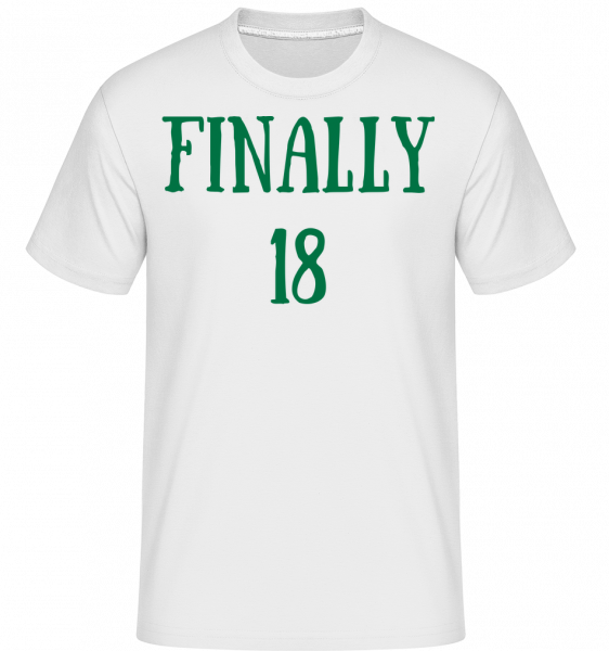 Finally 18 -  Shirtinator Men's T-Shirt - White - Vorn