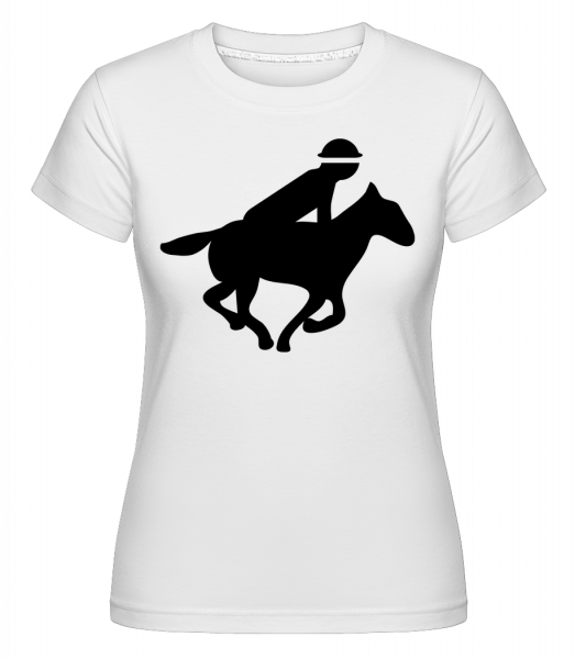 Racehorse Riding -  Shirtinator Women's T-Shirt - White - Vorn