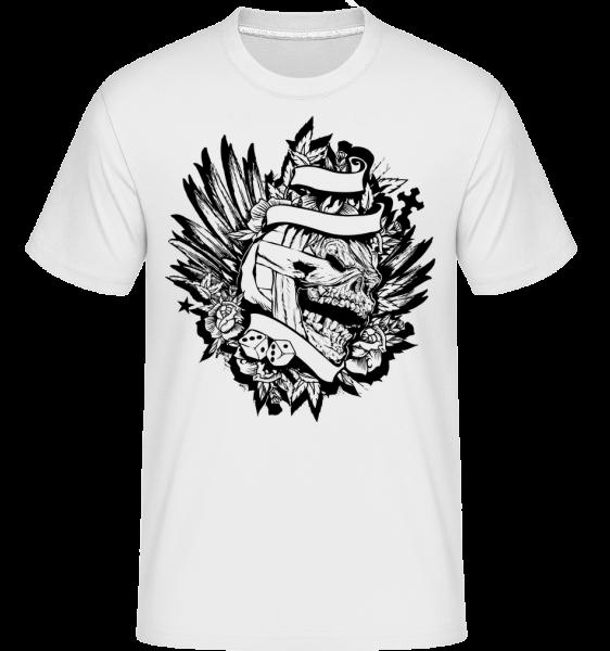 Mummified Skull Tattoo -  Shirtinator Men's T-Shirt - White - Vorn
