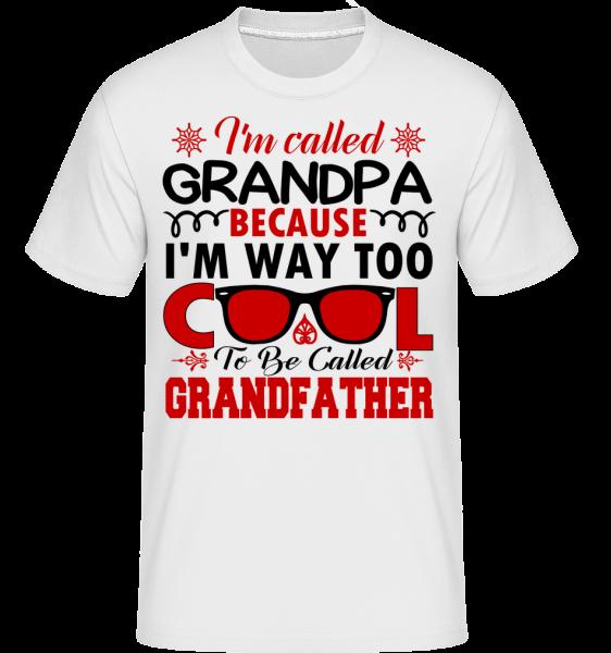 Way Too Cool Grandpa - Shirtinator Men's T-Shirt - White - Vorn
