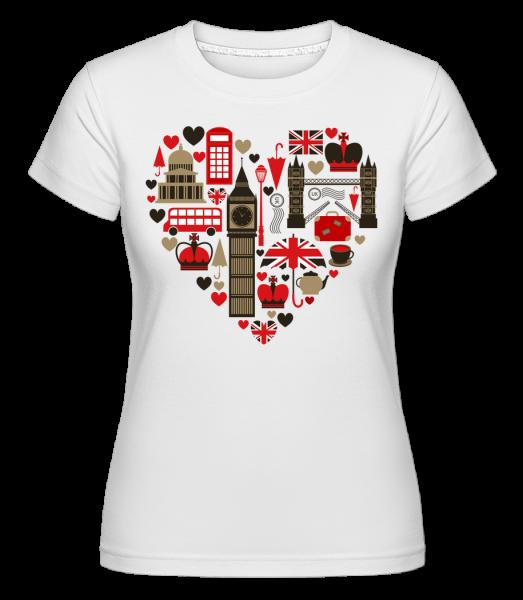 London Love Heart - Shirtinator Women's T-Shirt - White - Vorn