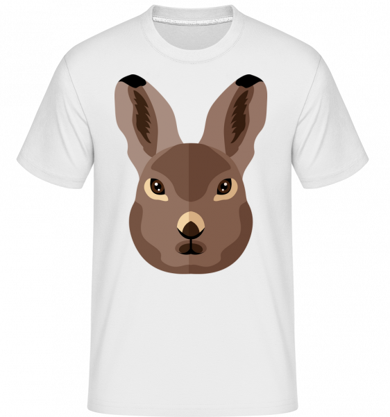Bunny Comic Shadow -  Shirtinator Men's T-Shirt - White - Vorn