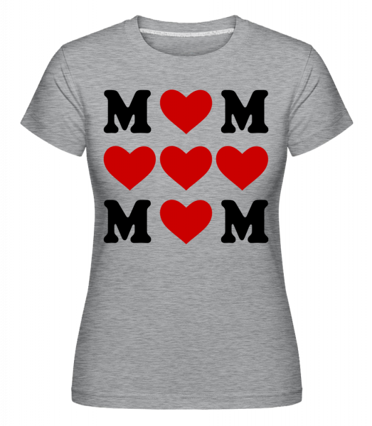 Love Mom Hearts - Shirtinator Women's T-Shirt - Heather grey - Vorn