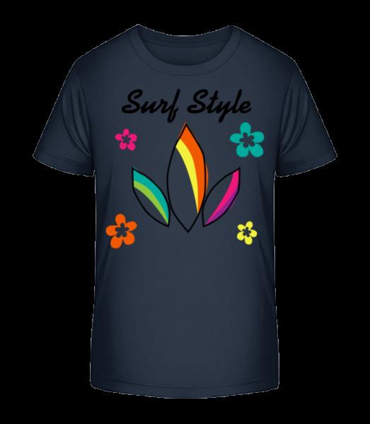 Surf Style Colourful - Kid's Premium Bio T-Shirt - Navy - Vorn