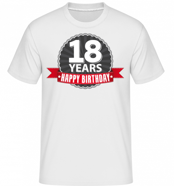 18 Years Birthday - Shirtinator Men's T-Shirt - White - Vorn