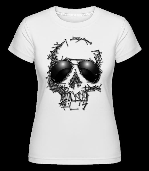 Skull Of Nails -  Shirtinator Women's T-Shirt - White - Vorn