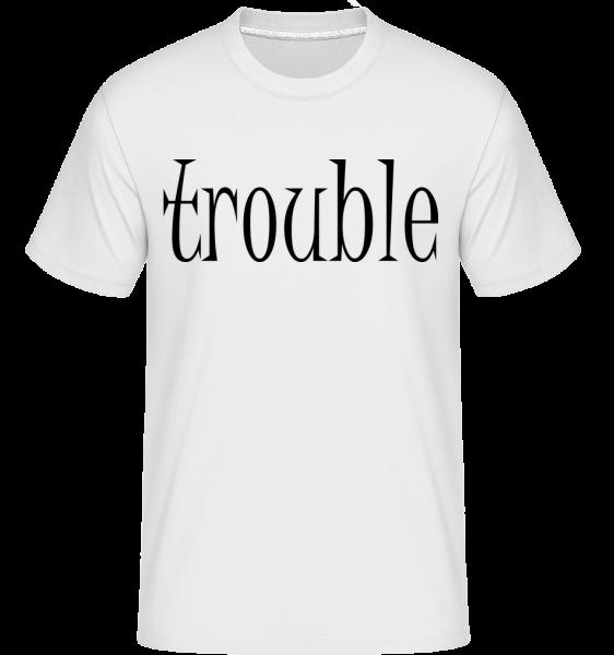 Trouble Makers Partner -  Shirtinator Men's T-Shirt - White - Vorn