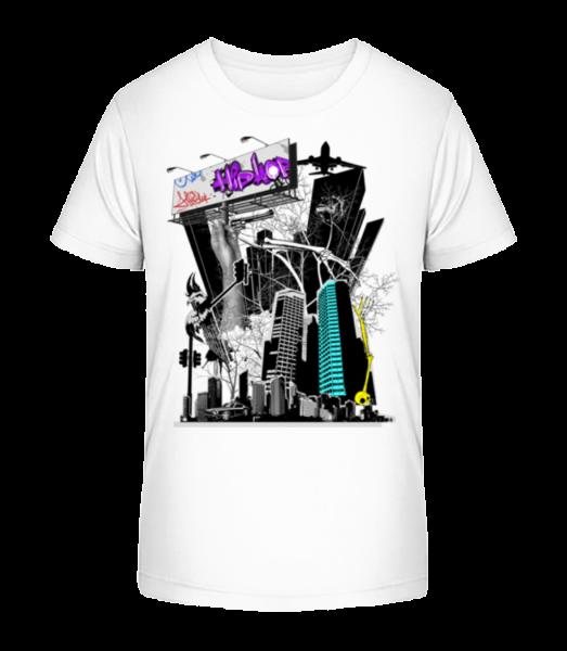 Big City Spectacle - Kid's Premium Bio T-Shirt - White - Vorn