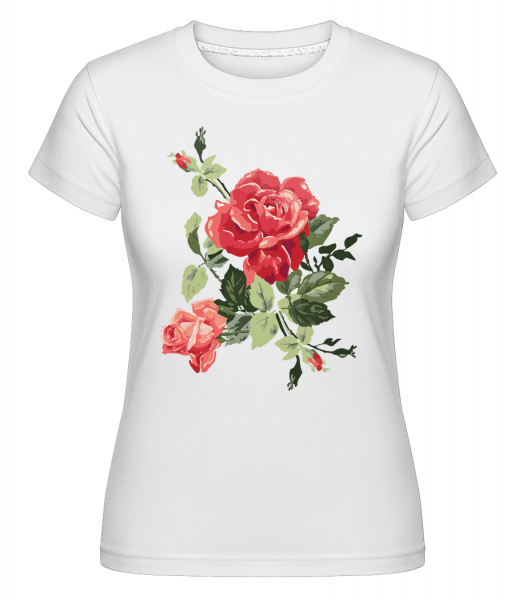 Red Roses -  Shirtinator Women's T-Shirt - White - Vorn