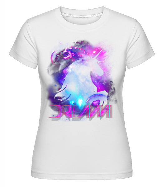 Dream Unicorn -  Shirtinator Women's T-Shirt - White - Vorn