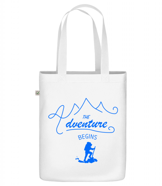 """The Adventure Begins - Organic """"Earth Positive"""" tote bag - White - Vorn"""