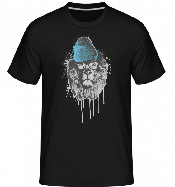 Lion with Head -  Shirtinator Men's T-Shirt - Black - Vorn