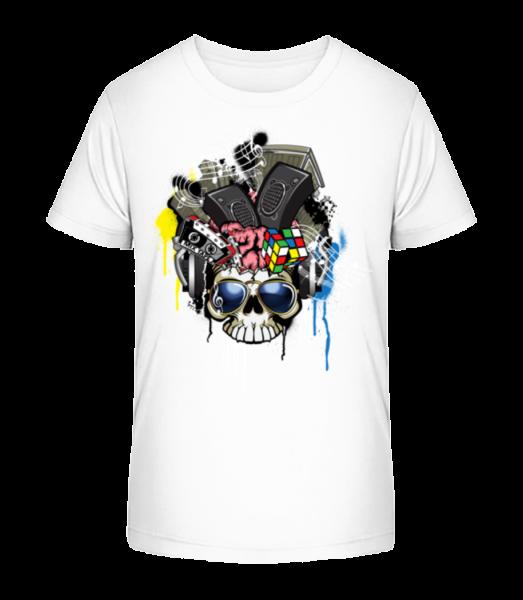 Creative Skull - Kid's Premium Bio T-Shirt - White - Vorn