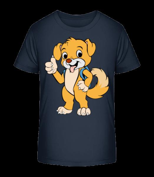 Cute Dog With Bag - Kid's Premium Bio T-Shirt - Navy - Vorn