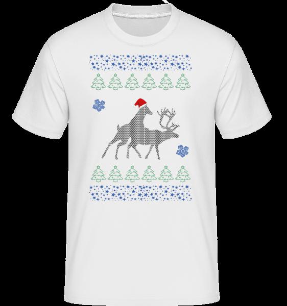 Reindeer Party -  Shirtinator Men's T-Shirt - White - Vorn