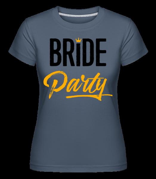 Bride Party - Shirtinator Women's T-Shirt - Denim - Vorn