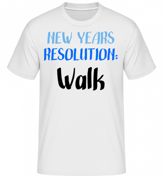 New Years Resolution Walk - Shirtinator Men's T-Shirt - White - Vorn