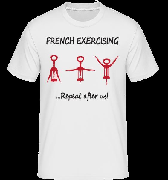 French Exercising - Shirtinator Men's T-Shirt - White - Vorn