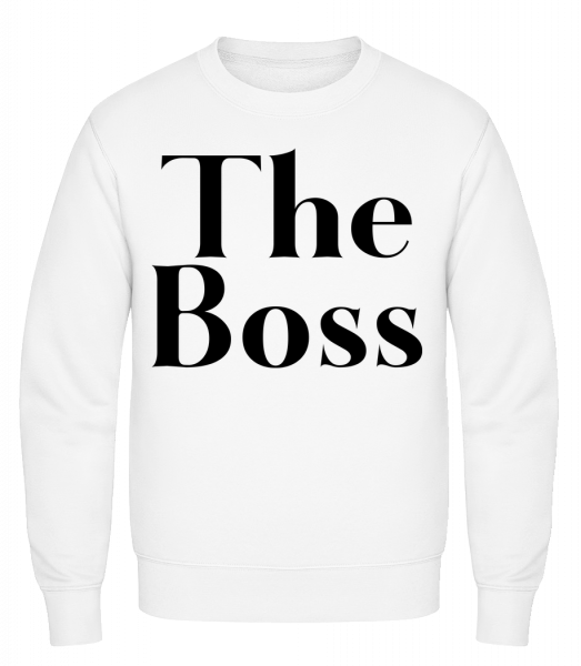 The Boss - Classic Set-In Sweatshirt - White - Vorn