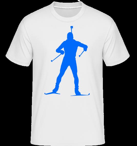 Biathlon Blue - Shirtinator Men's T-Shirt - White - Vorn