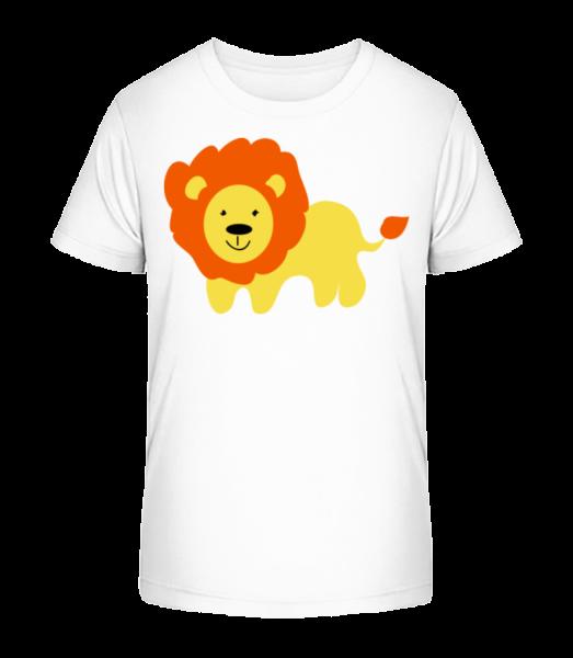 Kids Comic - Lion - Kid's Premium Bio T-Shirt - White - Vorn
