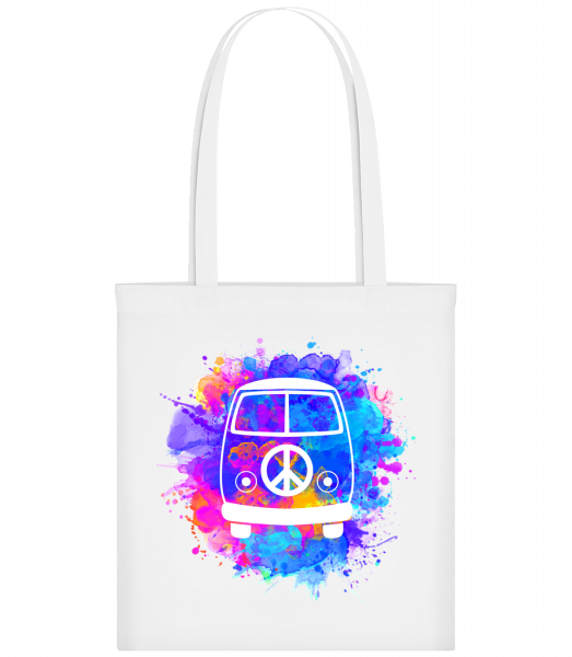 Hippie Bus - Carrier Bag - White - Vorn
