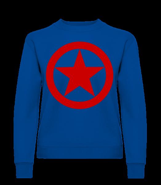 Star In Circle Logo - Classic Ladies' Set-In Sweatshirt - Royal Blue - Vorn