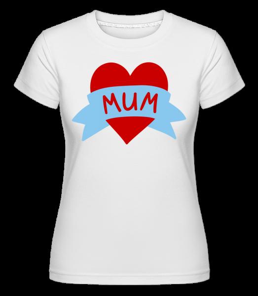 Mum Heart Icon - Shirtinator Women's T-Shirt - White - Vorn