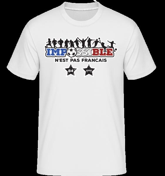 football_2_FR -  Shirtinator Men's T-Shirt - White - Vorn