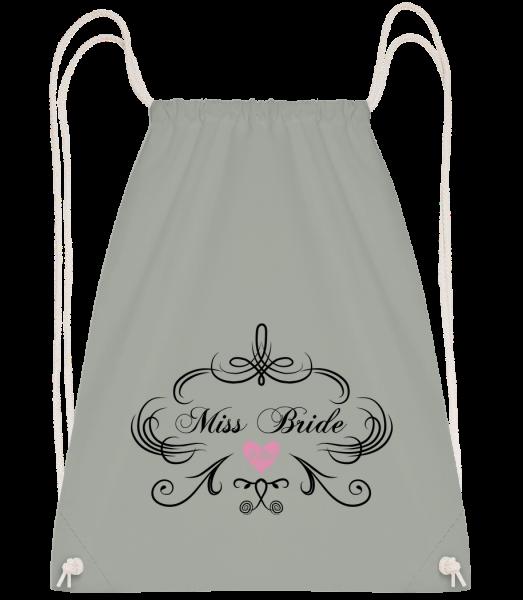 Miss Bride - Drawstring Backpack - Anthracite - Vorn
