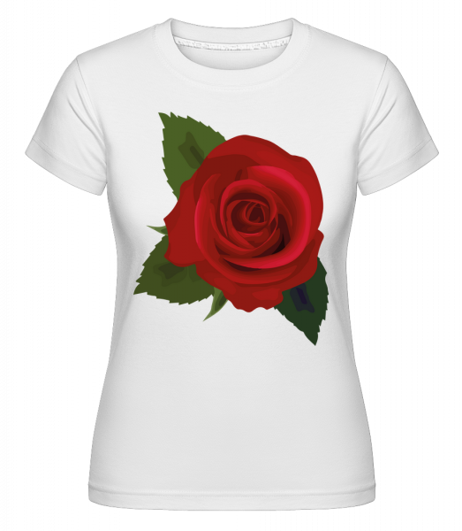 Rose Red -  Shirtinator Women's T-Shirt - White - Vorn
