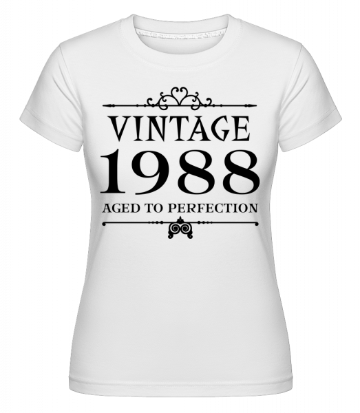 Vintage 1988 Perfection - Shirtinator Women's T-Shirt - White - Vorn