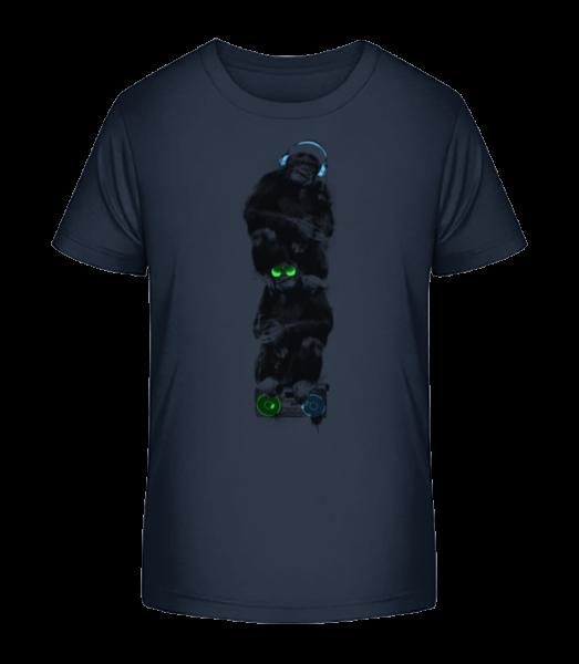 Music Monkeys - Kid's Premium Bio T-Shirt - Navy - Vorn