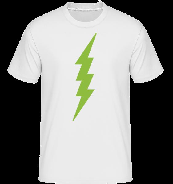 Flash Icon Green - Shirtinator Men's T-Shirt - White - Vorn